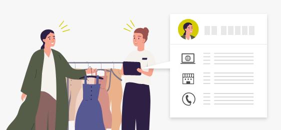 販売情報管理によるマルチチャネル間接客の実現